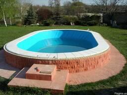 Лайнер ПВХ голубой для бассейна
