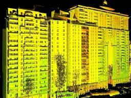 Лазерное сканирование зданий, фасадов, помещений.