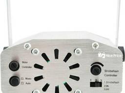 Лазерный проектор, стробоскоп, диско лазер UKC HJ08 4 в 1 c триногой Silver