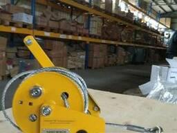 Лебедка ручная барабанная BHW 500 кг 12 м троса