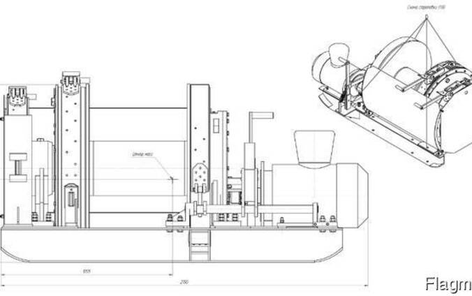 Лебедка шахтная ЛВ-25