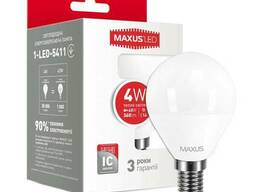 LED лампа Maxus G45 F 4W теплый свет E14 (1-LED-5411)