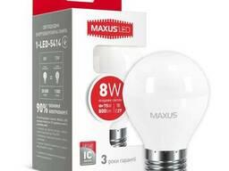LED лампа Maxus G45 F 8W яркий свет E27 (1-LED-5414)