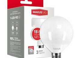 LED лампа Maxus G95 15W 220V E27 Гарантия 3 Года