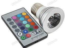 Led лампа с пультом управления, Светодиодная RGB лампа