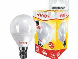 LED лампа Sokol G45 5.0 W 220В E14 4100К