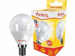 LED лампа Sokol G45 5.0 W 220В E14 3000К