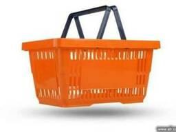 Покупательская корзина оранжевая