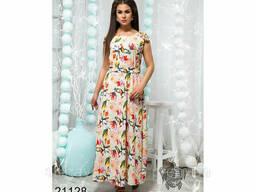 Легкий длинный сарафан-платье 48-54, доставка по Украине