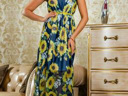 Легкое шифоновое платье в пол 42-48 , доставка по Украине