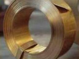Лента бронзовая БрБ2 0,1х250, ГОСТ