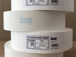 Лента бумажная для швов гипсокартона KNAUF KURT 50 мм х 75 м