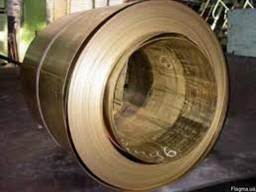 Лента латунная 0, 4х300 Л63 мягкая твердая бухта отмотка ассортимент