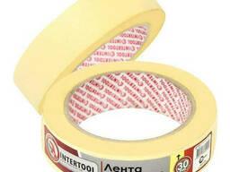 Лента малярная 30мм, 40м, желтая Intertool DM-3040