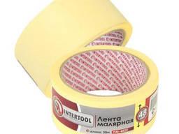 Лента малярная (крепп) желтая, ширина 48 мм, длина 20 м Intertool DM-4820