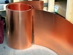 Лента медная М1 0.2 - 2,0 мм ГОСТ 1173