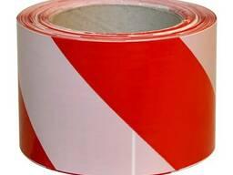 Лента сигнальная 100м (красно-белая)