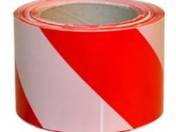 Лента сигнальная 200м (красно-белая)