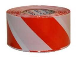 Лента сигнальная 500м (красно-белая)