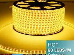 Лента светодиодная SMD 5050, 60 LED/m желтый