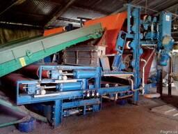 Ленточный пресс для сушки биомассы