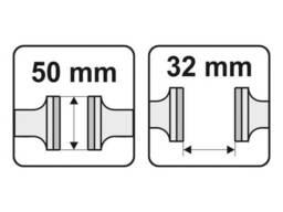 Лещата ручні сталеві YATO 165 мм губки- 50 мм розвід губок- 32 мм