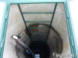Лестница для колодца с площадкой