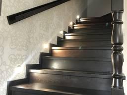 Лестница на металлокаркасе под заказ Киев Оодесса №2 - фото 5
