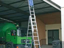 Лестница стремянка 2-секционная алюминиевая