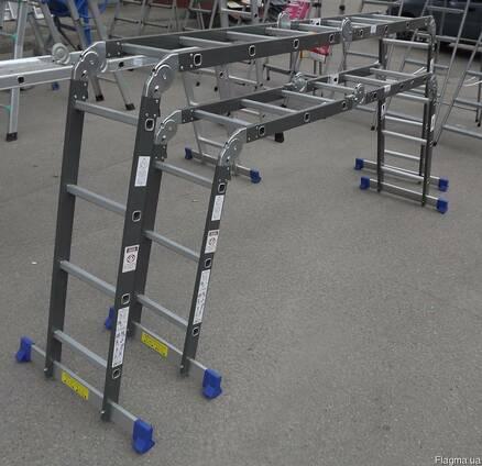 Лестница трансформер шарнирная Werk 4х3
