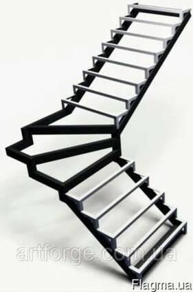 Каркас лестницы - под обшивку, открытый каркас лестницы