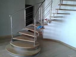 Лестницы из нержавеющей стали по Крыму под заказ