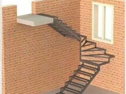 Лестницы металлические: прямые/поворотные/винтовые/хребтовые - фото 2