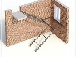 Лестницы металлические: прямые/поворотные/винтовые/хребтовые - фото 7