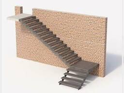 Лестницы металлические: прямые/поворотные/винтовые/хребтовые - фото 8