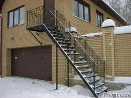 Лестницы металлические винтовые и маршевые изготовление !!! - фото 4