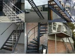 Лестницы на сварном металлокаркасе