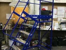 Лестницы передвижные мобильные складские H платформы 1 - 5 м - фото 4
