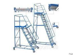 Лестницы передвижные мобильные H 1 - 5 м Цена от минимальной