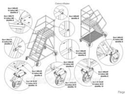 Лестницы передвижные мобильные складские H платформы 1 - 5 м - фото 2