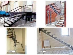 Лестницы на металлическом каркасе.