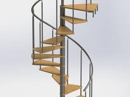 Лестницы винтовые со ступенями из ясеня