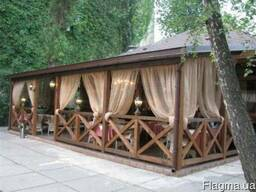 Деревянные летние Кафе Бары Рестораны