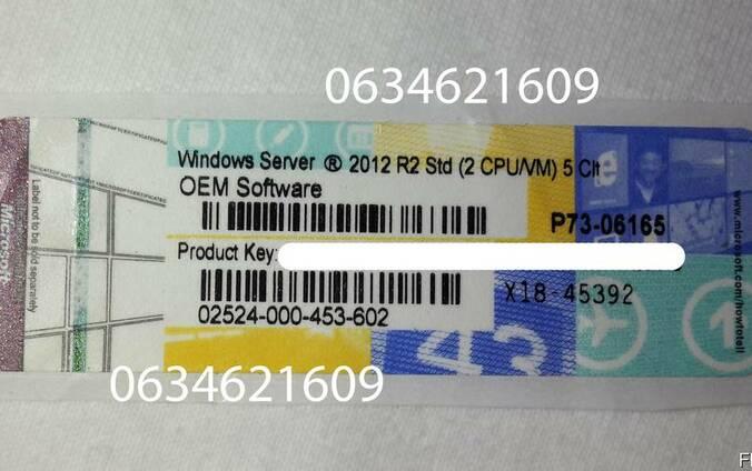 Лицензионные наклейки Windows Server 2012 Standart 64/32 bit