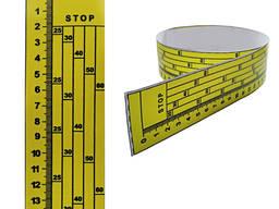 Линейка на дисковую пилораму, наклейка, 0 сверху