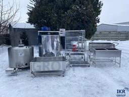 Линия по переработке молока 100 л, 200 л, 300 л, 500 л/ Лінія переробки молока