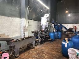 Лінія переробки пластика Гранулятор Шредер Мойка