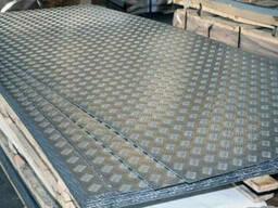 Лист рифленый алюминиевый 2х15000х3000мм (5754;H114)(АМГ). ..