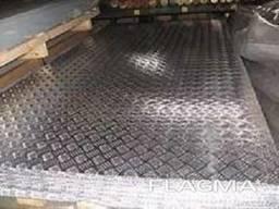 Лист алюминиевый рифленый АД0 2, 5х1000-1250х2000-2500