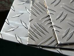 Лист алюминиевый рифленый АМГ (квинтет, дуэт)
